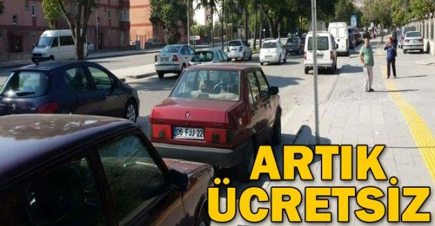 Ankara'da yol üstü otoparkları artık ücretsiz