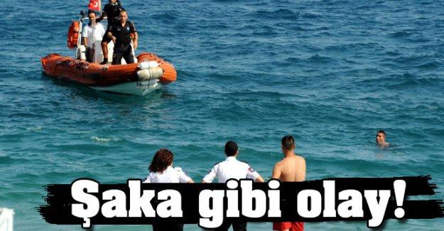 Antalya'da şaka gibi olay...