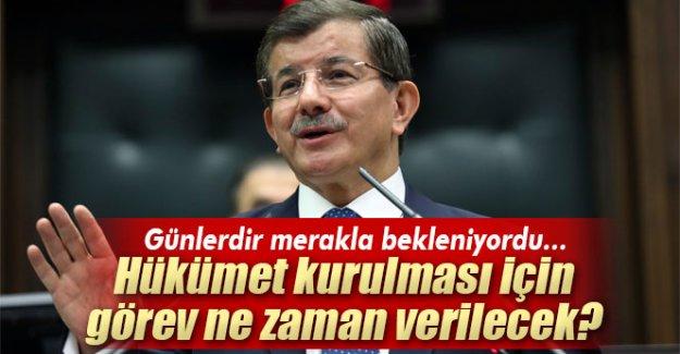 Başbakan Davutoğlu: 'Görevlendirme bugün olacak'
