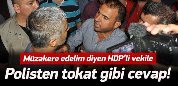 Batman'da HDP'liler ile polis arasında gerginlik