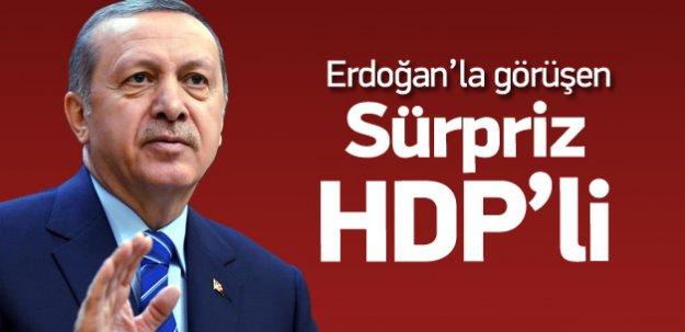 Beştepe'te Erdoğan'la görüşen sürpriz HDP'li