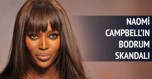 Bodrum'da Naomi Campbell skandalı!..