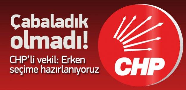 CHP'li vekilden sürpriz çıkış: Erken seçim olacak