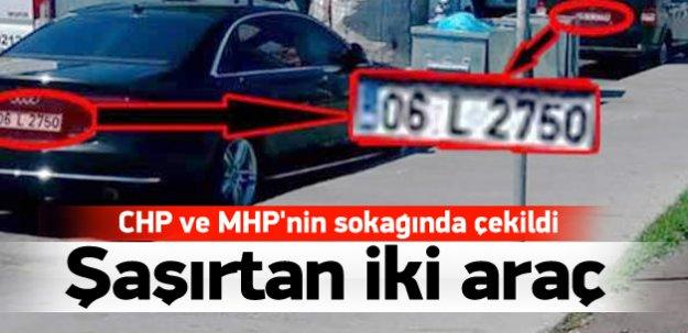 CHP-MHP sokağında şaşırtan iki araç