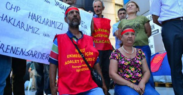 CHP önünde eylem