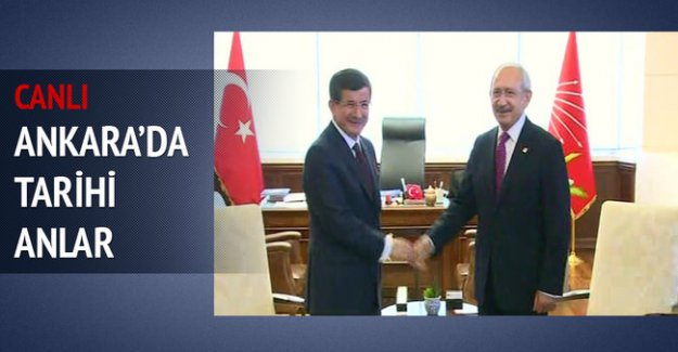 Davutoğlu CHP Genel Merkezi'nde