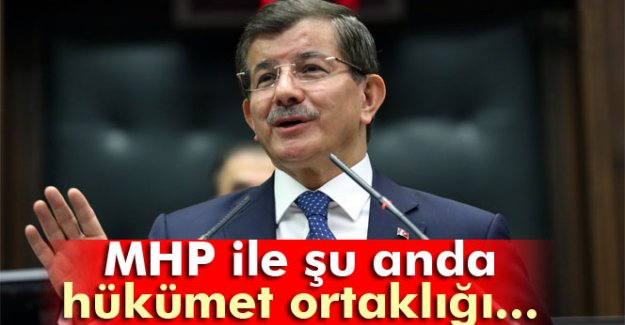 Davutoğlu: 'MHP ile temas sürecek'