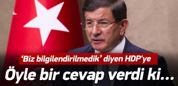 Davutoğlu'ndan HDP'ye cevap