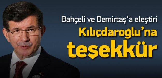 Davutoğlu'ndan Kılıçdaroğlu'na teşekkür!