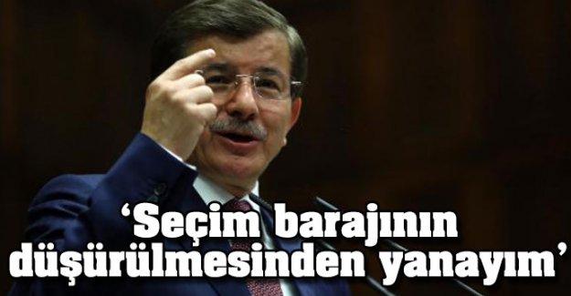 Davutoğlu'ndan seçim barajı açıklaması