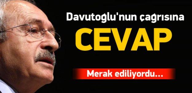 Davutoğlu'nun çağrısına Kılıçdaroğlu'ndan yanıt