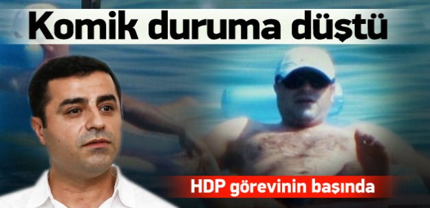 Demirtaş'tan havuz keyfi sonrası çelişkili mesaj