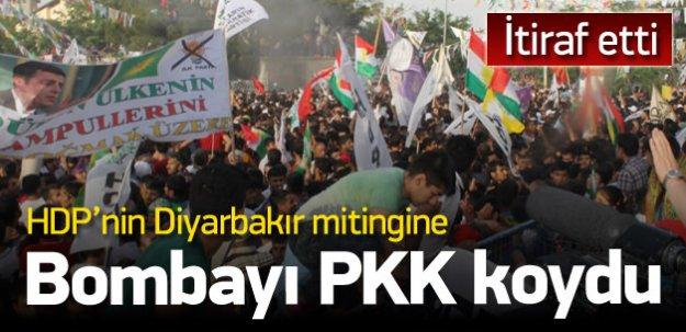 'Diyarbakır'da HDP mitingine bombayı PKK koydu'