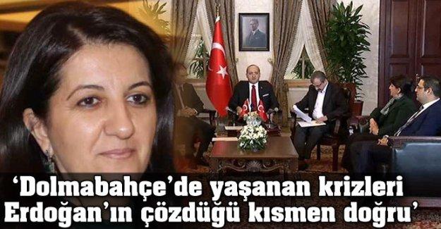 'Dolmabahçe'de yaşanan krizleri Erdoğan'ın çözdüğü kısmen doğru'