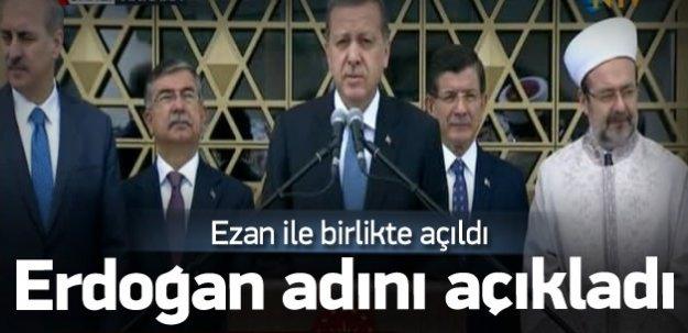 Erdoğan, Beştepe Millet Camii'ni açtı