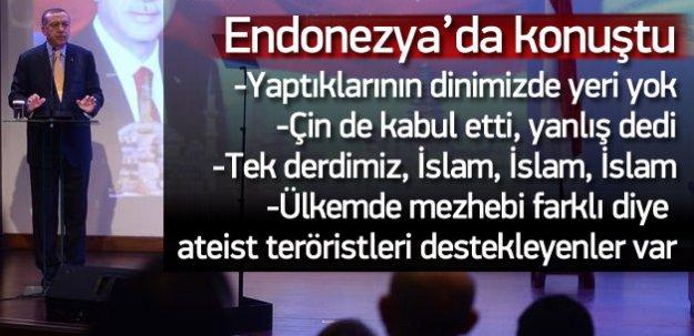 Erdoğan: Çin de sistemin yanlış olduğunu söyledi