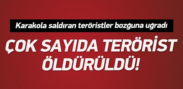 Erzurum'da karakola saldırı: 3 terörist öldürüldü