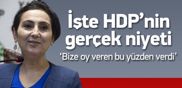 Figen Yüksekdağ HDP'nin asıl niyetini açıkladı