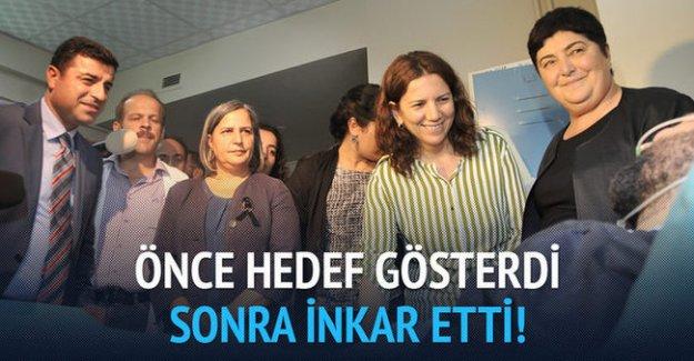 Gazetecileri hedef gösteren Demirtaş inkar etti!