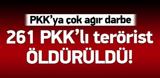Genelkurmay: 271 PKK'lı öldürüldü