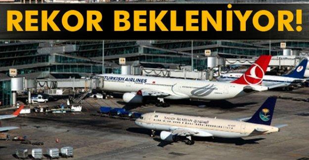 Havalimanında rekor bekleniyor
