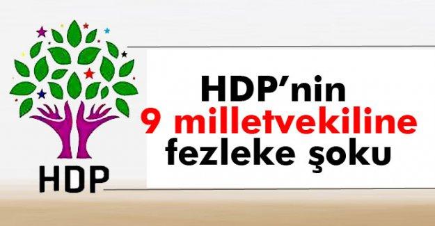 HDP'li 9 vekil hakkında fezleke hazırlandı