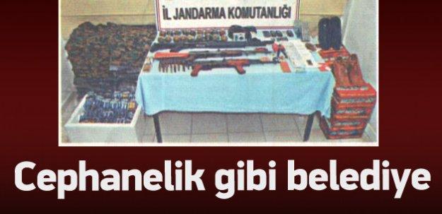 HDP'li belediyeden cephanelik çıkmış!