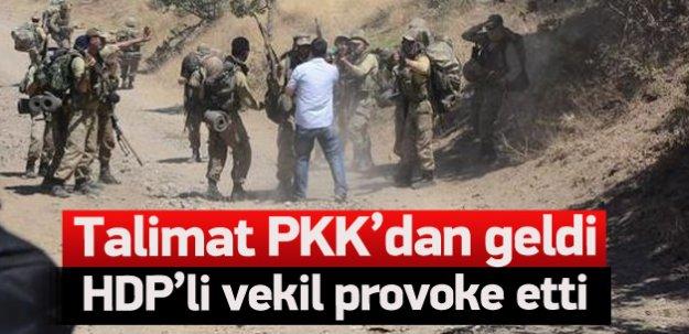 HDP'li vekilden Uludere provokasyonu