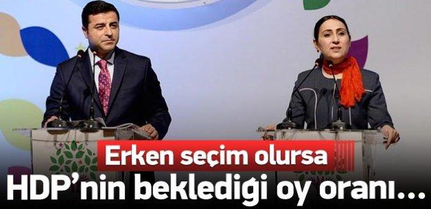 HDP'nin Erken seçimde beklediği oy oranı...