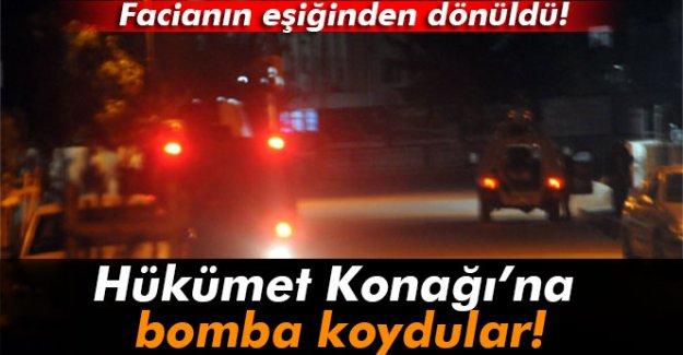 Hükümet Konağı ve köprüye bomba koydular!