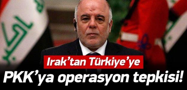 Irak'tan Türkiye'ye PKK tepkisi