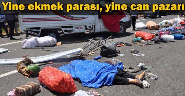 İşçileri taşıyan kamyon devrildi: 3 ölü, 13 yaralı