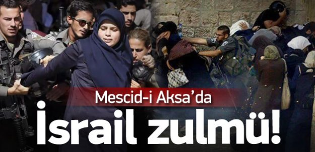 İsrail polisleri Mescid-i Aksa'ya baskın yaptı