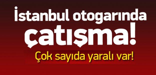 İstanbul'da otogarda çatışma