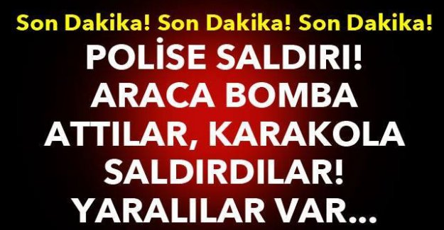 İstanbul'da polise bomba ve silahlı saldırı