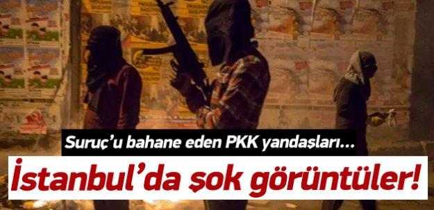 İstanbul'da şok görüntüler