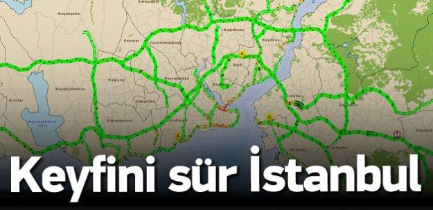 İstanbul'da trafik çilesine bayram arası