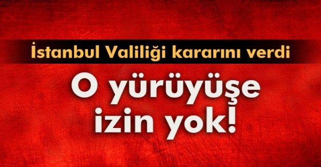 İstanbul Valiliği, 'Büyük Barış Yürüyüşü'ne izin vermedi