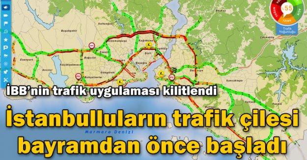 İstanbulluların trafik çilesi bayramdan önce başladı
