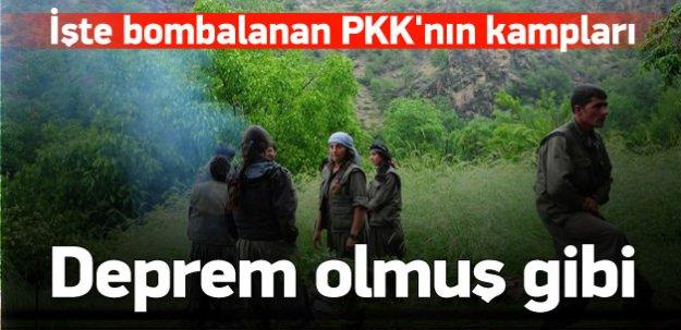 İşte bombalanan PKK'nın kamplarının son hali
