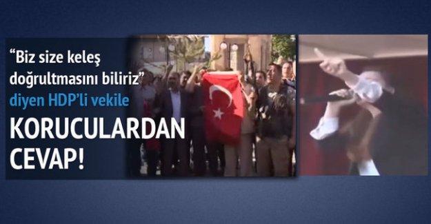 Köy korucuları HDP'li vekile cevap verdi!