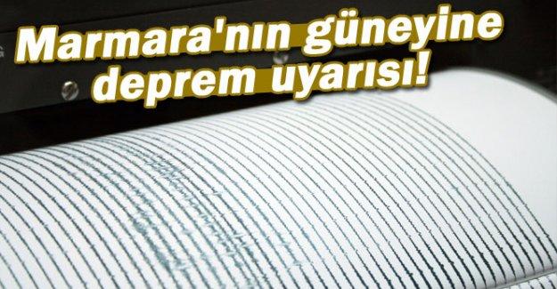 Marmara'nın güneyine deprem uyarısı