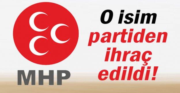 O isim MHP'den ihraç edildi