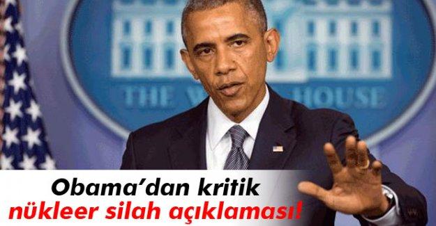 Obama: 'Nükleer silahlara çıkan bütün yolların önü kesildi'