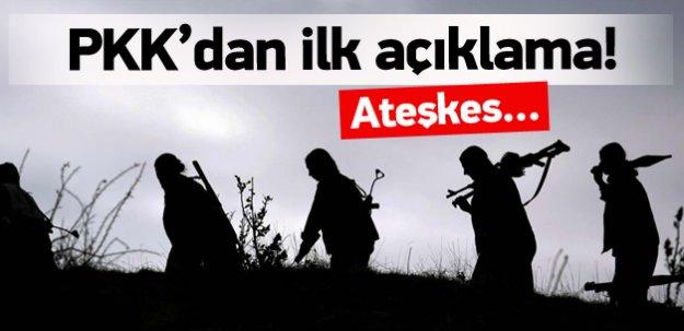 PKK'dan ilk açıklama geldi! Ateşkes...