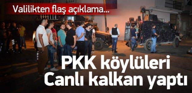 PKK köylüleri kendine kalkan yaptı