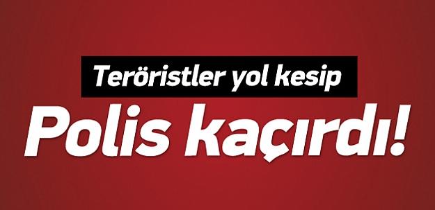 PKK'lı teröristler Lice'de polis kaçırdı