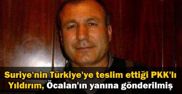 PKK'lı Yıldırım, Öcalan'ın yanına gönderilmiş