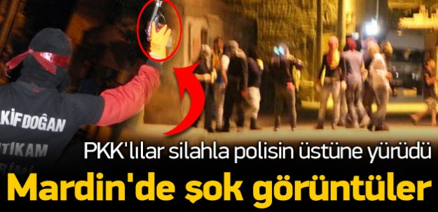 PKK'lılardan tabancalı ve molotoflu eylem