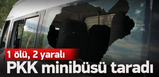 PKK minibüsü taradı: 1 ölü, 2 yaralı